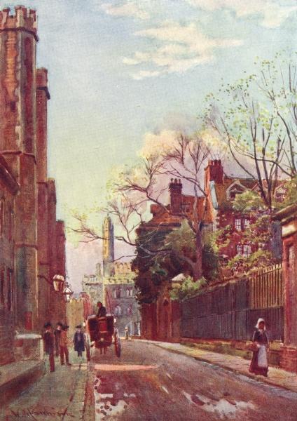 Associate Product CAMBRIDGE. Queen's Lane-Mill Street 1907 old antique vintage print picture
