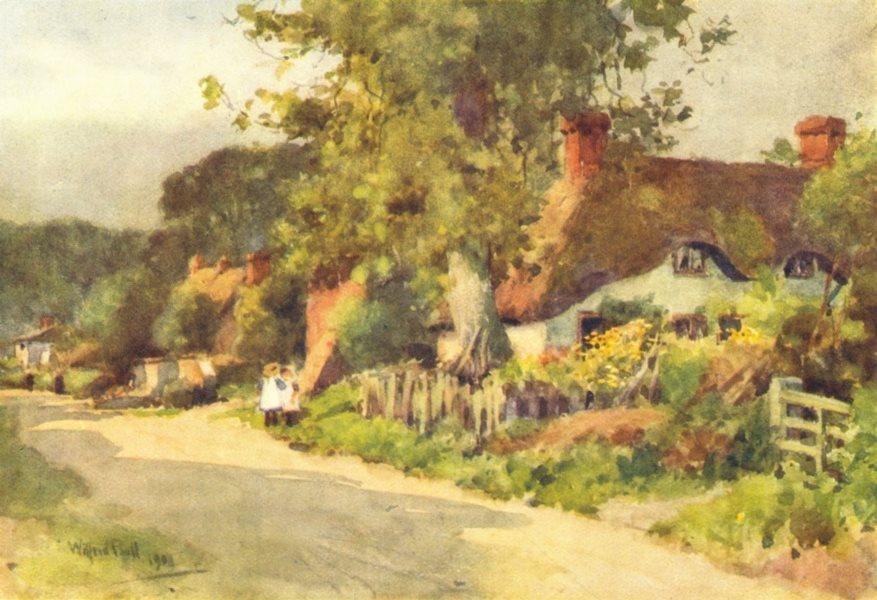 Associate Product LONGPARISH. attractive view of the village. HAMPSHIRE 1909 old antique print