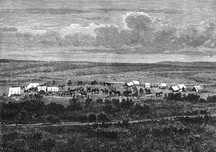 Associate Product USA. Camp, Plains, west US, Fort Hall c1880 old antique vintage print picture