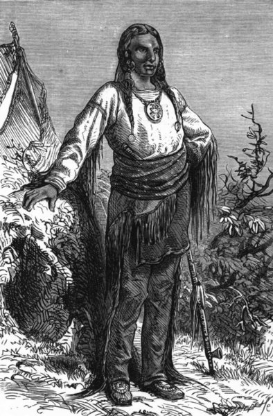 Associate Product USA. Ute Indian Chief c1880 old antique vintage print picture