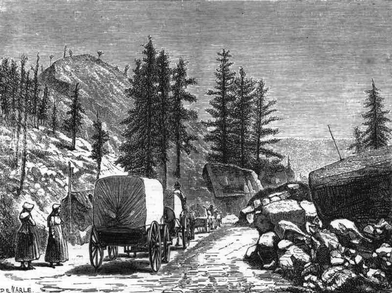 Associate Product COLORADO. Emigrant Train in c1880 old antique vintage print picture