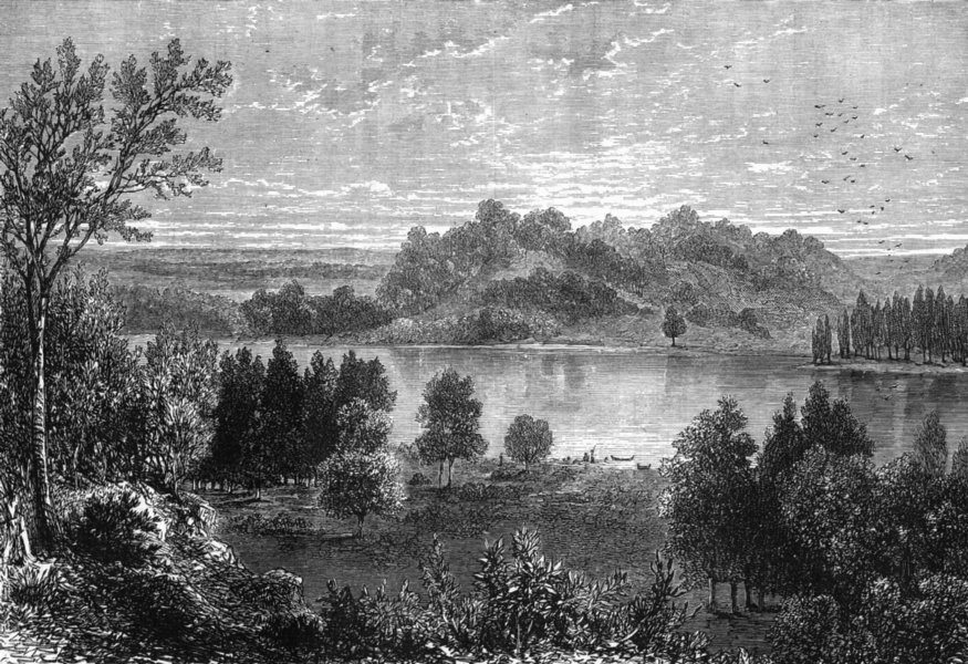 Associate Product USA. Valley of Upper Mississippi c1880 old antique vintage print picture