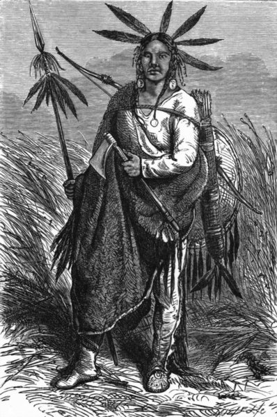 Associate Product USA. Cheyenne Indian Chief c1880 old antique vintage print picture
