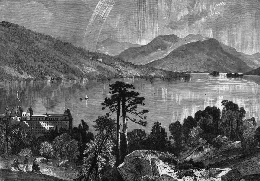 Associate Product NEW YORK. Lake George, State c1880 old antique vintage print picture