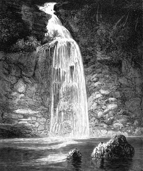 Associate Product PENNSYLVANIA. Bridal Veil, falls, Raymondskill river c1880 old antique print