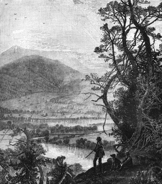 Associate Product ENGLAND. New. Connecticut river, Massachusetts c1880 old antique print picture