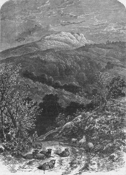 Associate Product DEVON. Sheepstor 1898 old antique vintage print picture