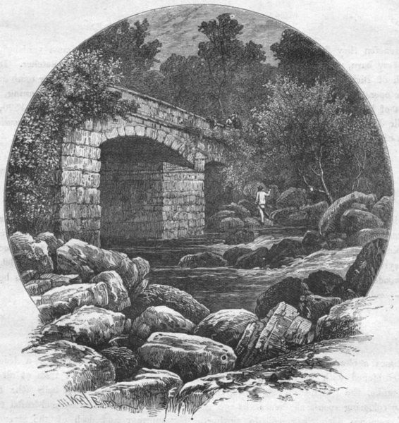 Associate Product DEVON. Shaugh bridge 1898 old antique vintage print picture