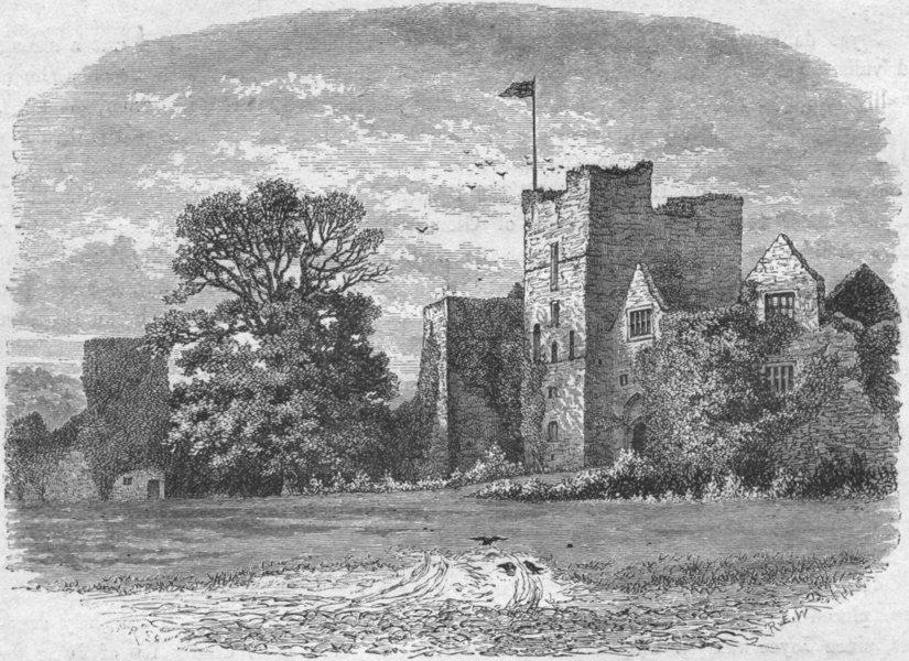 Associate Product SHROPS. Ludlow. Castle, entry Gate 1898 old antique vintage print picture