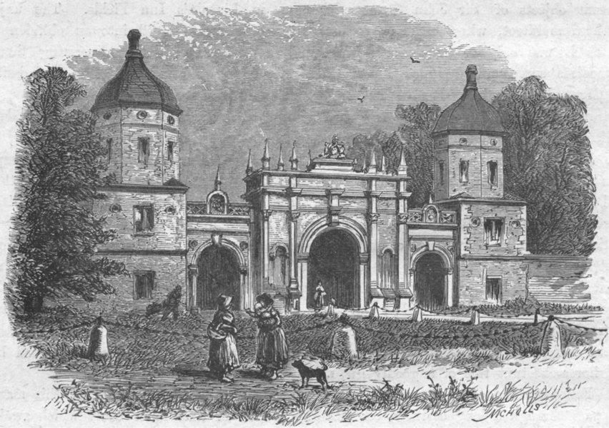 Associate Product LINCS. Burghley. Lodge, Park 1898 old antique vintage print picture