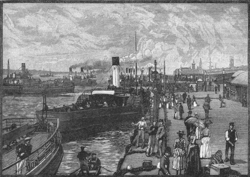 Associate Product LIVERPOOL. George's Landing-stage 1898 old antique vintage print picture