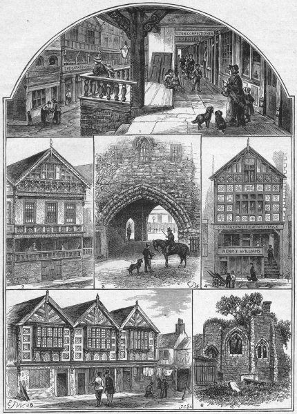 CHESTER. Rows; Bishop Lloyd; Gods Providence; Stanley 1898 old antique print