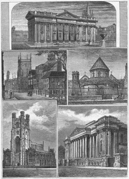 Associate Product CAMBRIDGE. Senate; Pitt Press; St Mary's; Fitzwilliam 1898 old antique print