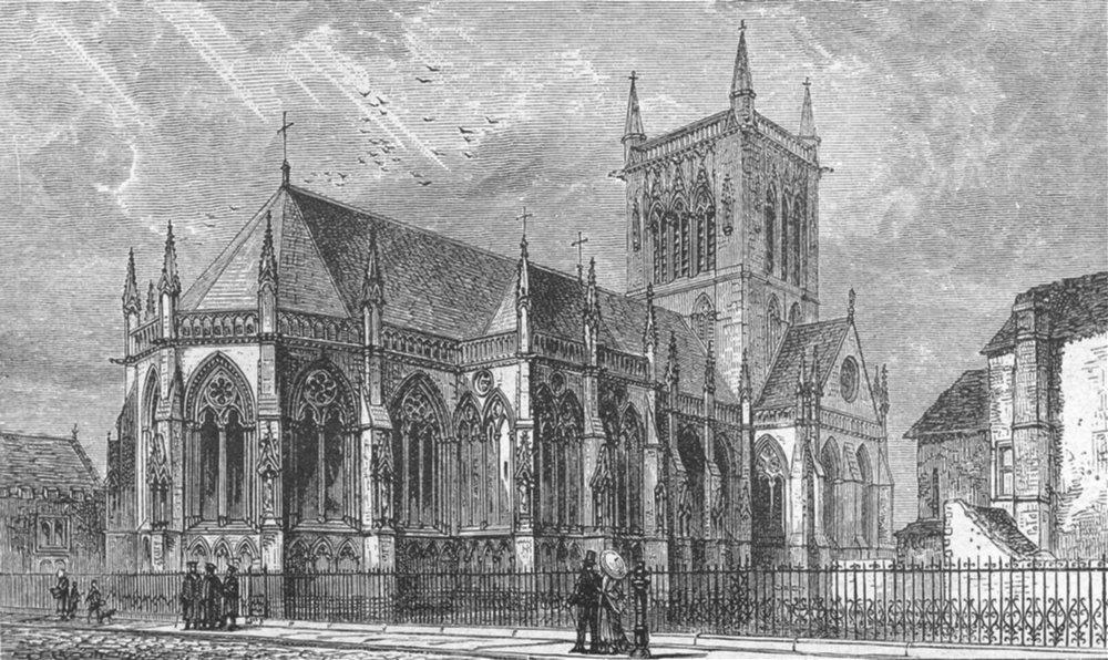 CAMBS. Cambridge. St John's Chapel 1898 old antique vintage print picture