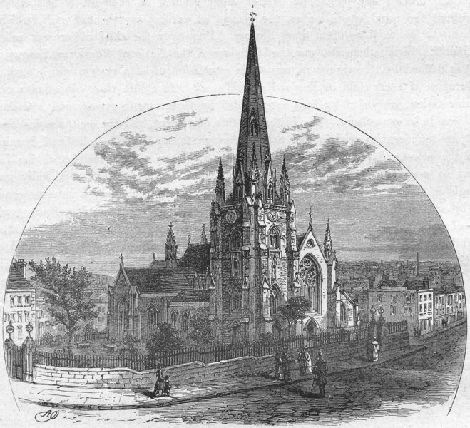Associate Product WARCS. Birmingham. St Martin's Church 1898 old antique vintage print picture
