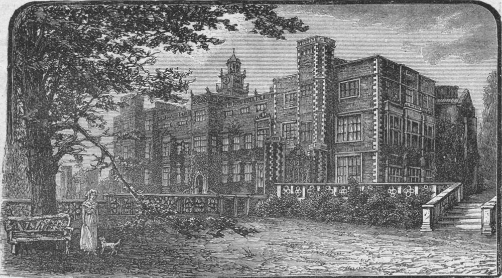 Associate Product HERTS. Hatfield House 1898 old antique vintage print picture
