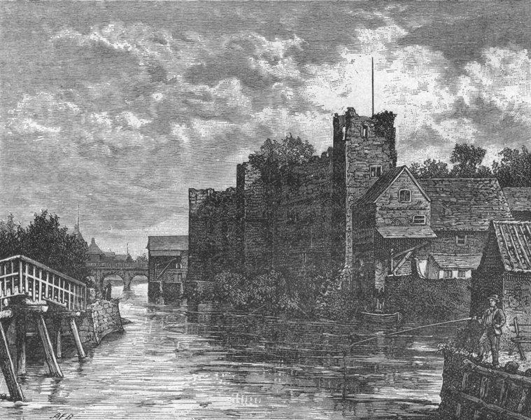 Associate Product NOTTS. Newark Castle 1898 old antique vintage print picture