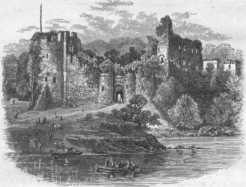 Associate Product WALES. Wye. Chepstow Castle 1898 old antique vintage print picture