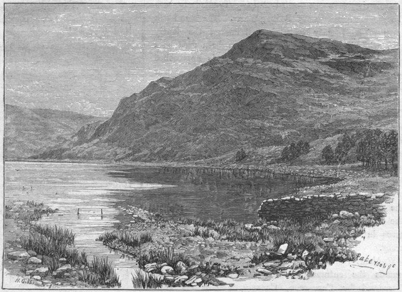 Associate Product WALES. Cwm Buchan lake & Craig-y-Saith 1898 old antique vintage print picture