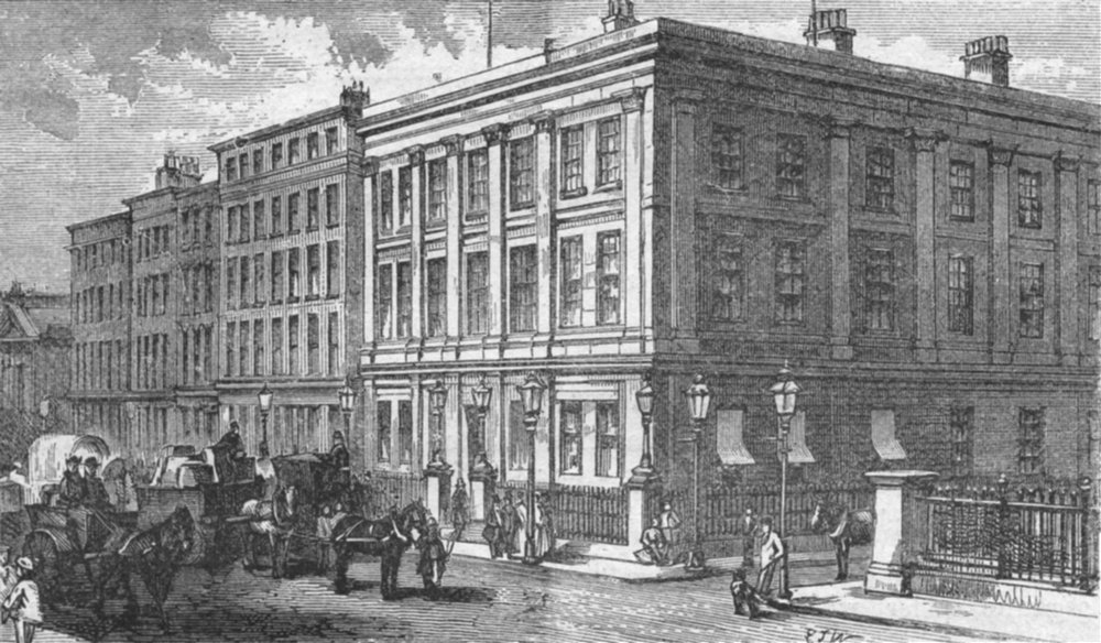 Associate Product LANCS. Manchester. Mosley Street 1898 old antique vintage print picture