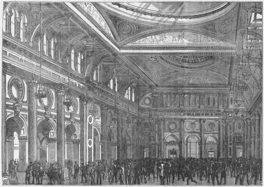 Associate Product LANCS. Manchester. Royal Exchange interior 1898 old antique print picture