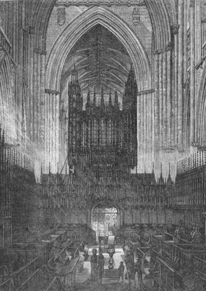Associate Product YORKS. York. Choir of Minster 1898 old antique vintage print picture