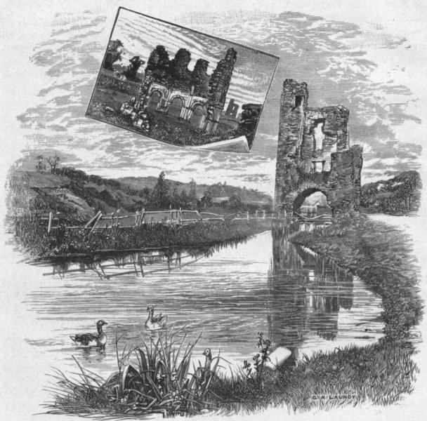 Associate Product IRELAND. Boyne. ruins, Mellifont Abbey 1898 old antique vintage print picture
