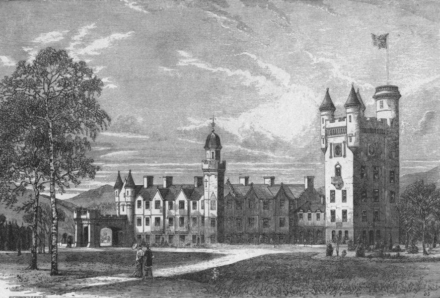 Associate Product SCOTLAND. Balmoral Castle 1898 old antique vintage print picture