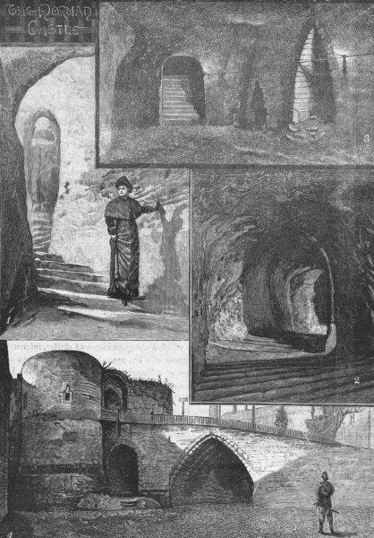 Associate Product NOTTINGHAM. Castle. Mortimer's Hole; King David jail 1898 old antique print