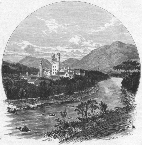 Associate Product SCOTLAND. Balmoral Castle, road 1898 old antique vintage print picture