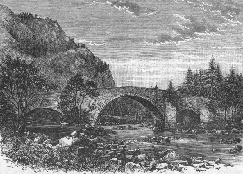 Associate Product SCOTLAND. Bridge at Invercauld 1898 old antique vintage print picture