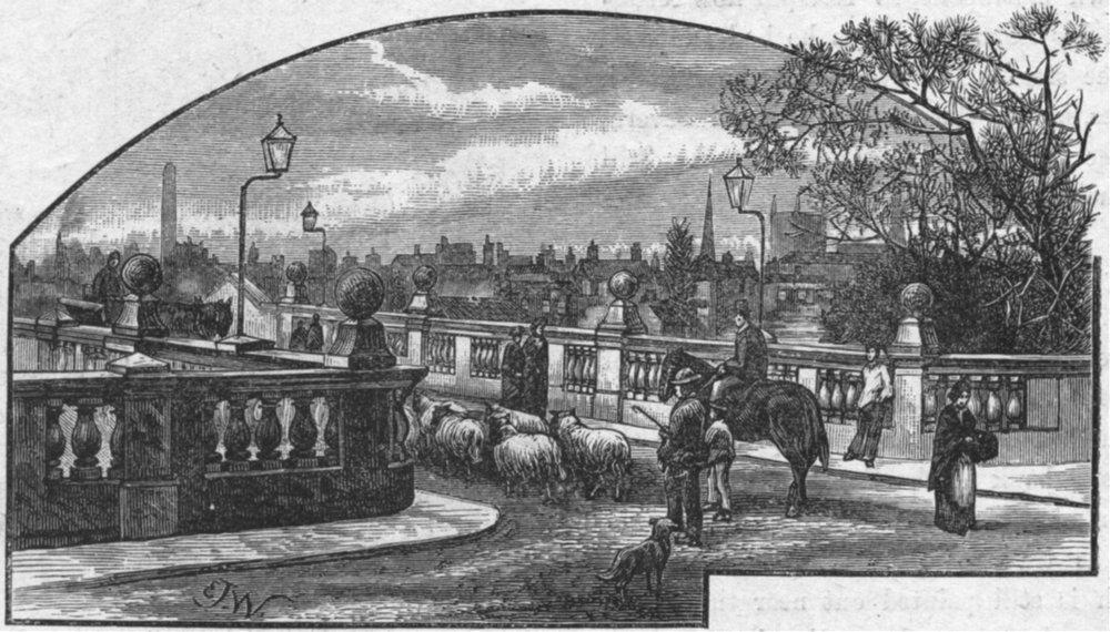 Associate Product SHROPS. Shrewsbury. English bridge 1898 old antique vintage print picture