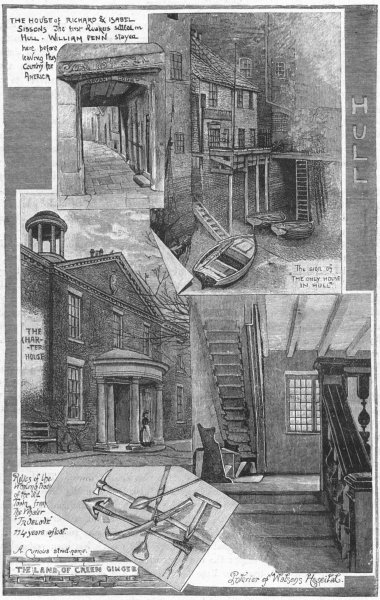 Associate Product YORKS. Hull 1898 old antique vintage print picture