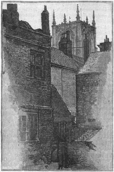 Associate Product YORKS. Hull. Tower of Holy Trinity 1898 old antique vintage print picture