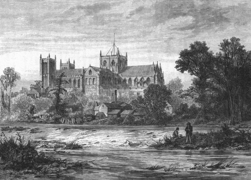 Associate Product YORKS. Ripon Minster, south-east 1898 old antique vintage print picture