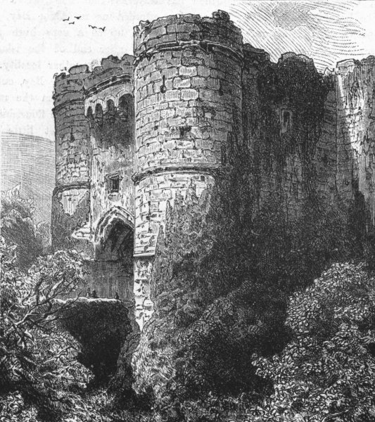 Associate Product ISLE OF WIGHT. Carisbrooke Castle 1898 old antique vintage print picture