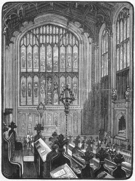 Associate Product BERKS. Eton. Chapel 1898 old antique vintage print picture