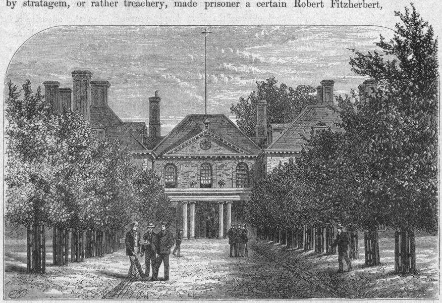 Associate Product WILTS. Marlborough. House, Court 1898 old antique vintage print picture