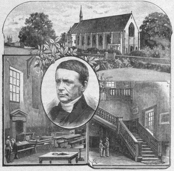 Associate Product MARLBOROUGH. Chapel; Upper School; Bishop Cotton 1898 old antique print