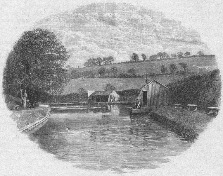 Associate Product WILTS. Marlborough. Bathing Place 1898 old antique vintage print picture