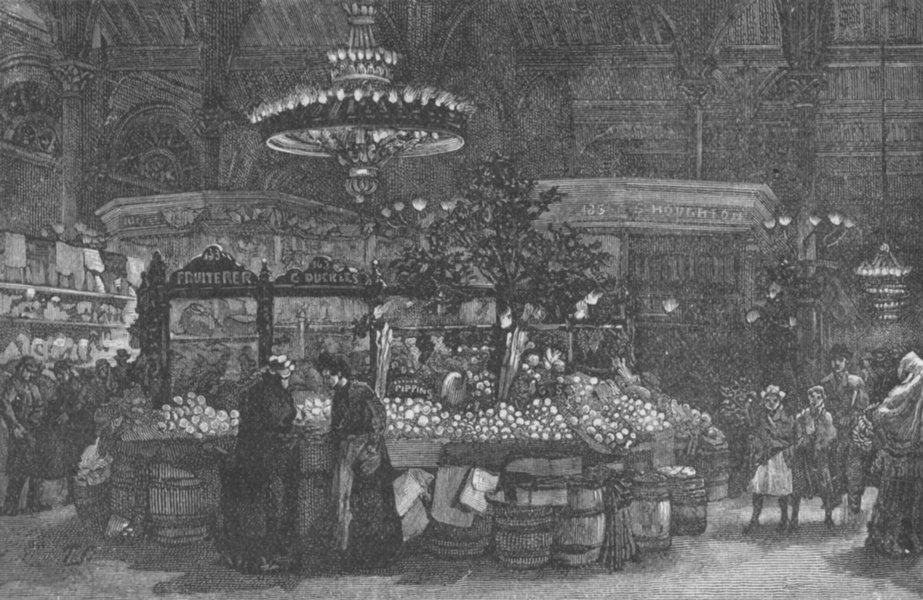 Associate Product YORKS. Bradford. People's Market 1898 old antique vintage print picture