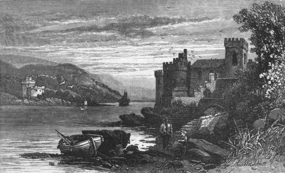 Associate Product DEVON. Dartmouth Castle 1898 old antique vintage print picture