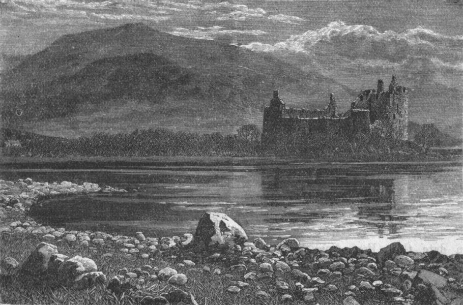 Associate Product SCOTLAND. Great Glen of. Kilchurn Castle 1898 old antique print picture