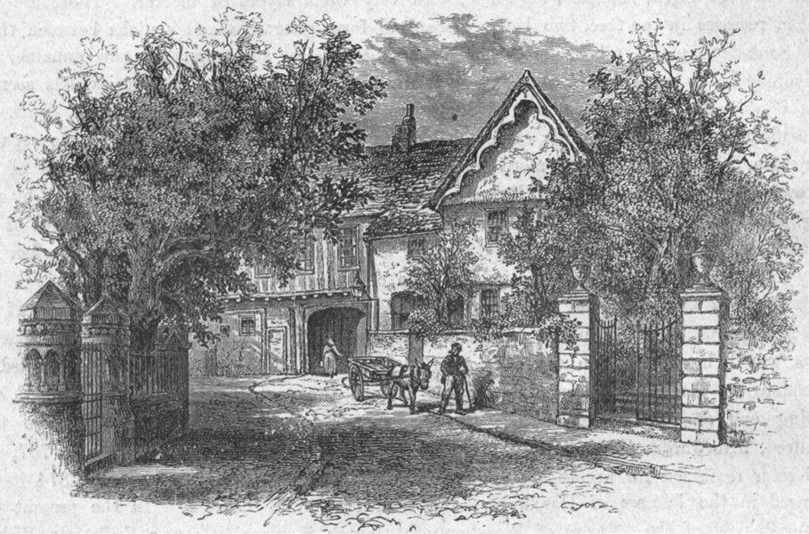 Associate Product LEICS. Leicester. Castle view 1898 old antique vintage print picture