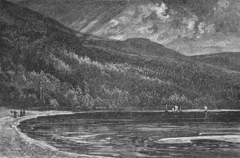Associate Product IRELAND. Wicklow. Lough Tay 1898 old antique vintage print picture