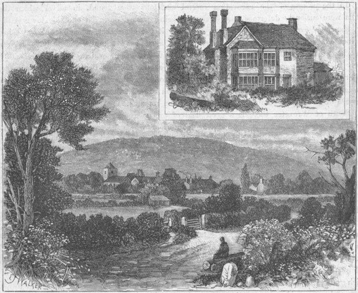 Associate Product SHROPS. Little Wenlock & Wrekin; Hall 1898 old antique vintage print picture