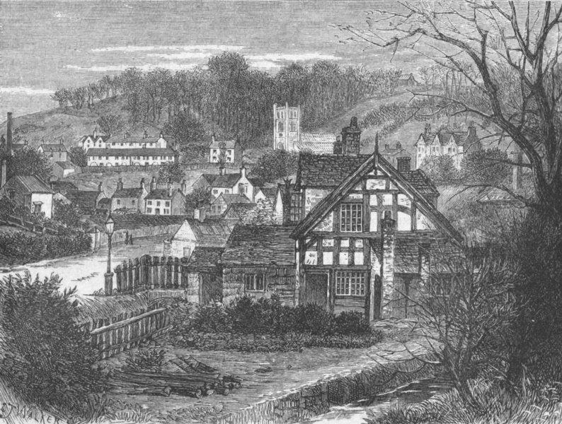 Associate Product SHROPS. In Coalbrookdale 1898 old antique vintage print picture