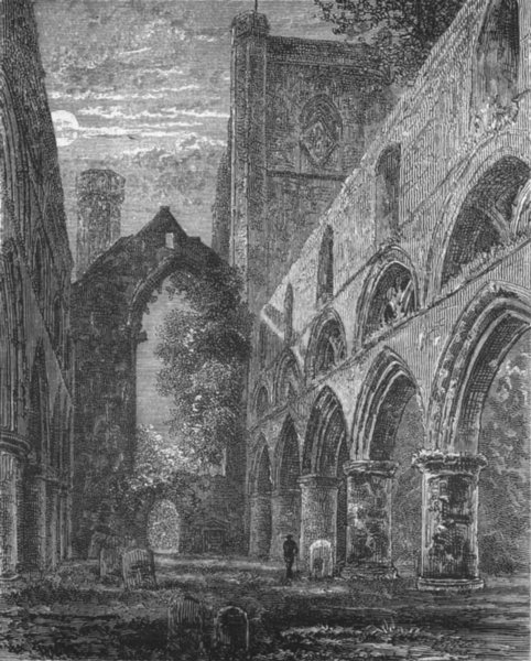 Associate Product SCOTLAND. Nave of Dunkeld cathedral 1898 old antique vintage print picture
