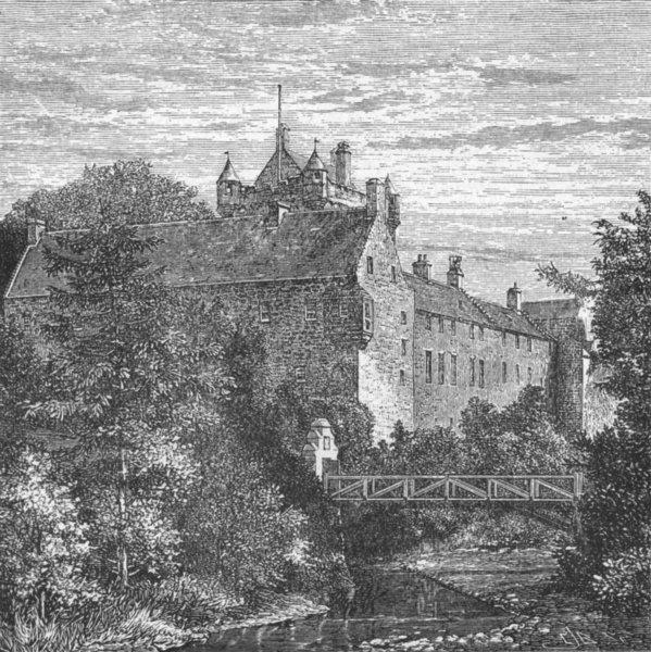 Associate Product SCOTLAND. Cawdor Castle 1898 old antique vintage print picture