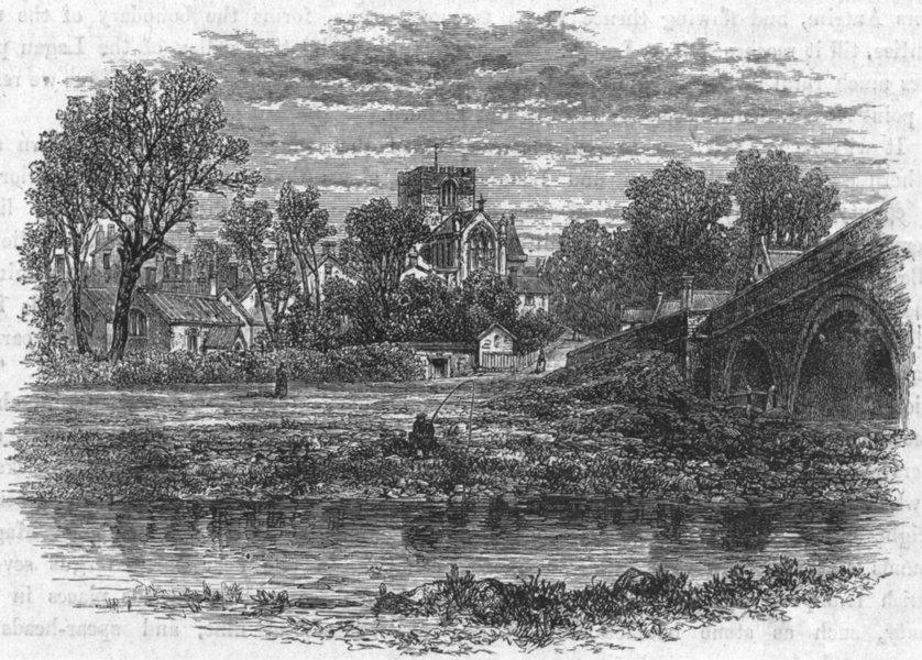 Associate Product WALES. Flintshire. St Asaph 1898 old antique vintage print picture